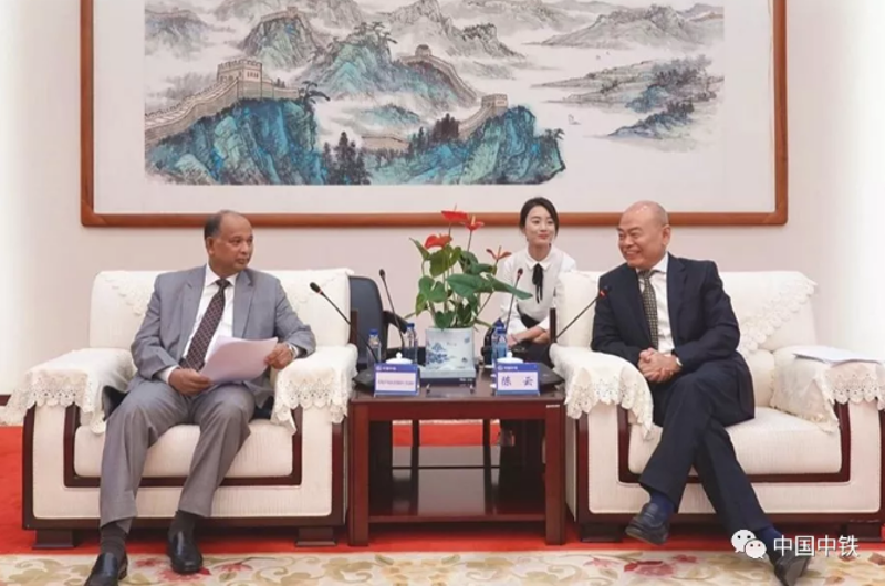 President CHEN Yun Meets with the Minister of Railways of Ba...